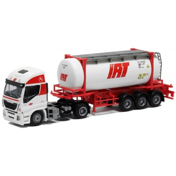 AWM 53667 Iveco Stralis HiWay 26ft. Tankcontainer oplegger IAT (DK)