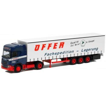 "AWM 929201 Scania CR HD Gordijnentrailer ""Offer Spedition"""