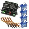 Digikeijs DR2024 set Servodecoder startset inclusief 4 servo's en 4 verlengkabels