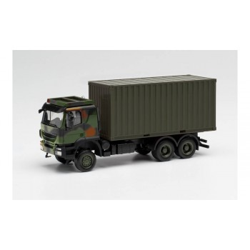 Herpa 746793 Iveco Trakker 6x6 20 ft. Cont. camouflage 1:87
