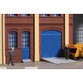 Auhagen 80255 Tore und Türen blau Stufen Rampen