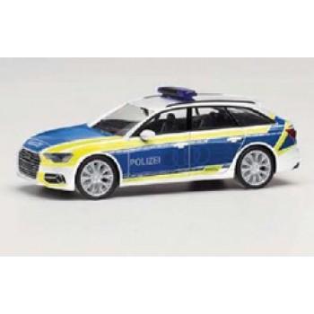 """Herpa 096058 Audi A6 Avant """"Polizei / Audi Vorführfahrzeug"""""""
