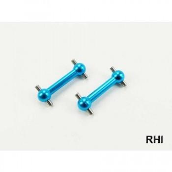 RHI 800704 Aandrijfassen (2) Blauw alu voor/achter TT02 Tamiya