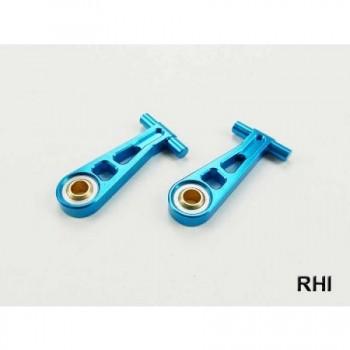RHI 800705 Draagarm (2) Blauw alu voor/boven TT02 Tamiya
