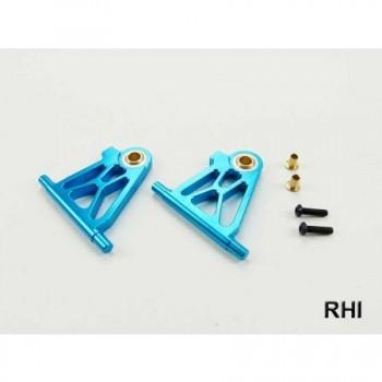 RHI 800706 Draagarm (2) Blauw alu voor/onder TT02 Tamiya