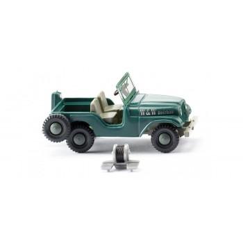 """Wiking 001103 Jeep """"W & W Holzbau"""""""