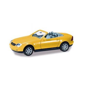 Herpa 012188005 Mercedes Benz SLK, geel (Minikit)