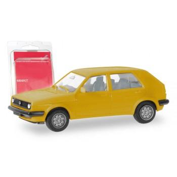 Herpa 012195-008 VW Golf II 4d geel (Minikit)