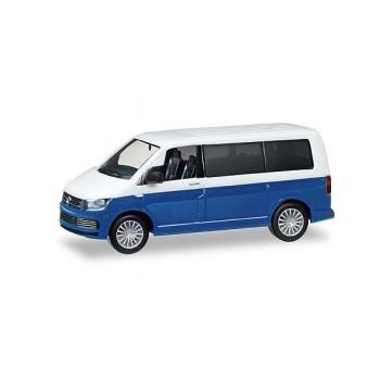 Herpa 038730002 VW T6 Bicolor, witblauw metallic