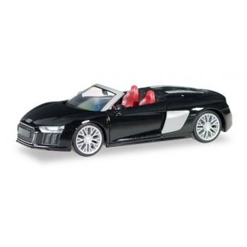Herpa 038690 Audi R8 Spyder, zwart metallic 1:87