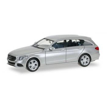 Herpa 038430002 Mercedes Benz C Combi A., zilver metallic 1:87