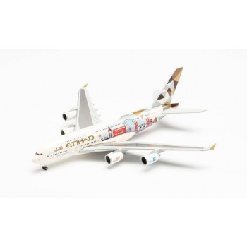 Herpa 535007 Airbus A380-800 Eithad Choose the UK 1:500