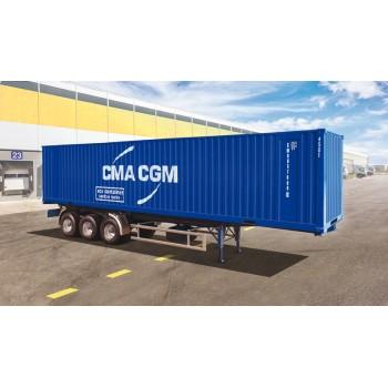 Italeri 3951 Containertrailer 40 Ft containers 1:24