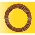 Viessmann 6865 Rol draad 10m 0,14mm2 kern bruin