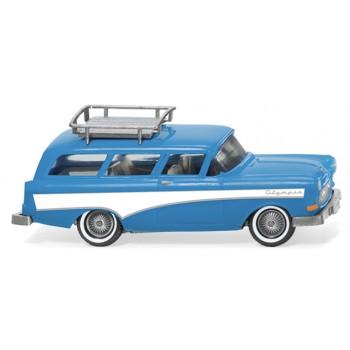 Wiking 007001 Opel Caravan '57 blauw/wit