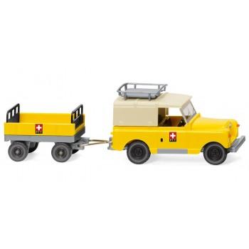 """Wiking 010005 Land Rover met Aanhanger """"PTT"""""""